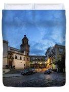 Church Of Santo Domingo Panorama Cadiz Spain Duvet Cover