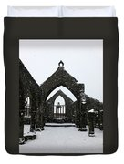 Church Of St Thomas A Becket In Heptonstall In Falling Snow Duvet Cover