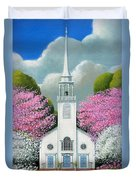 Church Of The Dogwoods Duvet Cover