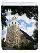Church Of The Holy Cross At Rauma Duvet Cover