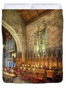 Church Organist Duvet Cover