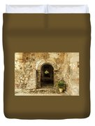 Church Ruins At El Rosario, Sinaloa Duvet Cover