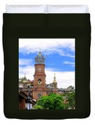Church Steeples In Puerto Vallarta Duvet Cover