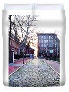 Church Street Cobblestones - Philadelphia Duvet Cover by Bill Cannon