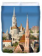 Churches In Budapest Hungary Duvet Cover