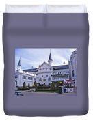 Churchill Downs Paddock Area Behind The Twin Spires Duvet Cover