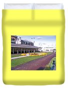 Churchill Downs Paddock Area Duvet Cover