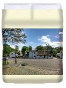 Churchtown Village After The Rain Duvet Cover
