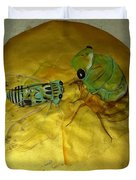 Cicada On Gold Duvet Cover