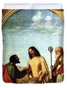 Cima Da Conegliano The Incredulity Of St Thomas With St Magno Vescovo Duvet Cover