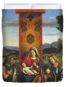 Cima Da Conegliano The Madonna And Child With St John The Baptist And Mary Magdalen Duvet Cover