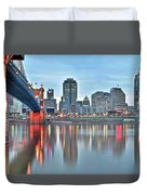 Cincinnati At Dusk Duvet Cover