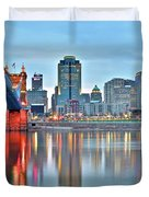 Cincinnati At Ground Level Duvet Cover
