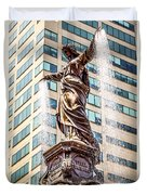 Cincinnati Fountain Genius Of Water By Tyler Davidson  Duvet Cover by Paul Velgos