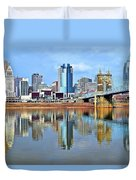 Cincinnati Ohio Times Two Duvet Cover