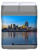 Cincinnati Skyline Across The Ohio River Duvet Cover