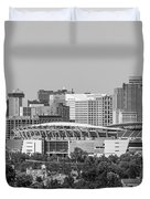 Cincinnati Skyline From Above  Duvet Cover