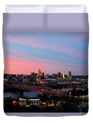 Cincinnati Skyline Duvet Cover