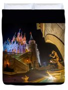 Cinderella And Her Castle Duvet Cover