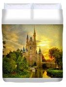 Cinderella Castle - Monet Style Duvet Cover