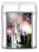 Cinderella's Castle, Fantasy Night Sky, Walt Disney World Duvet Cover
