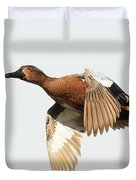 Cinnamon Teal On The Wing Duvet Cover