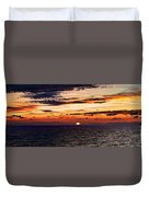 Cinque Terre - Sunset From Manarola - Panorama Duvet Cover