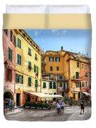 Cinque Terre - Vernazza Main Street Duvet Cover
