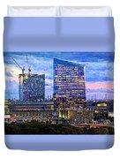 Cira Centre Skyline At Dusk Duvet Cover