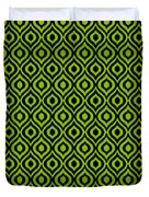 Circle And Oval Ikat In Black N09-p0100 Duvet Cover