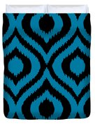 Circle And Oval Ikat In Black T02-p0100 Duvet Cover