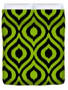 Circle And Oval Ikat In Black T03-p0100 Duvet Cover