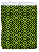 Circle And Oval Ikat In Black T09-p0100 Duvet Cover