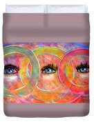 Circle Of Eyes Duvet Cover
