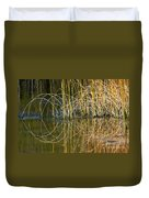 Circle Of Fall In Yellowstone Duvet Cover