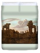 Circle Of View Over Rome Duvet Cover
