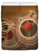 Circles And Rings Duvet Cover