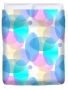 Circles In Pastel Duvet Cover