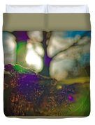 Circles Of Light And Color Duvet Cover