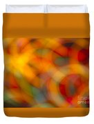Circular Flow Christmas Abstract Duvet Cover
