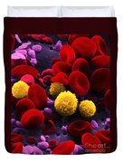 Circulating Human Blood, Sem Duvet Cover by Omikron