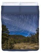 Circumpolar Star Trails Over The Gila Duvet Cover