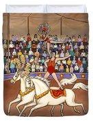 Circus Bareback Riders Duvet Cover