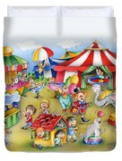 Circus In Town Duvet Cover
