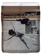 Circus Performer Falls To Her Death Duvet Cover