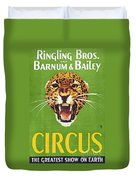 Circus Poster, 1940s Duvet Cover