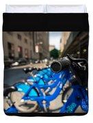 Citibike Handle Manhattan Color Duvet Cover