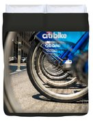 Citibike Manhattan Duvet Cover