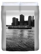 Cities And Rivers Ny1 Duvet Cover