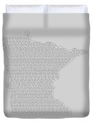 Cities And Towns In Minnesota Black Duvet Cover